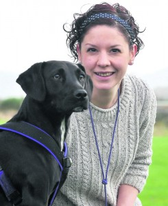 Dog behaviourist Sadie Brunskill with her dog Betty.